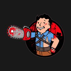 """Chainsaw Boy"" by javiclodo is available now on Arte Horror, Horror Art, Bruce Campbell Evil Dead, Evil Dead Movies, Ash Evil Dead, Best Horror Movies, Cult Movies, Homemade Halloween Decorations, Fallout Art"