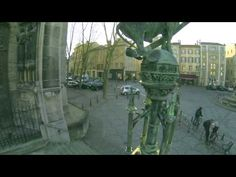 Видео с дрона о городе. ▶ Nancy vu du ciel - YouTube