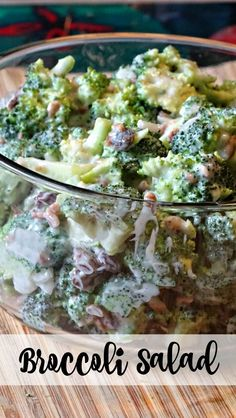 This broccoli salad recipe is amazing, With broccoli, raisins, onions, sunflower seeds in a sweet and tangy dressing. Perfect as a side dish.