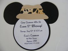 Safari Mickey Mouse Inspired Invitations by whimsycreationsbyann, $19.99