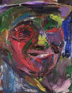 Tim Dayhuff - painting - August 2014 - acylic on fixed Internet photocopy - 8 x 10.5 in
