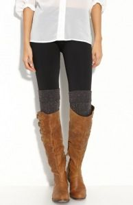 The gift to give this season- leg warmers, or cuffs (just for the layered look). Girls wear them with cutoff shorts, some are worn outside the boot.... And some are even recycling old sweater sleeves... !