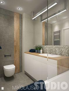 łazienka z niebieskim akcentem - zdjęcie od MIKOŁAJSKAstudio