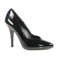 Pleaser Shoes Seduce-420 Black Patent