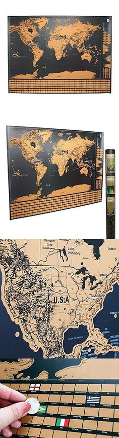 Other travel maps 164807 scratch off world travel tracker map other travel maps 164807 scratch off world travel tracker map scratch your travels black and gold buy it now only 4016 on ebay gumiabroncs Images