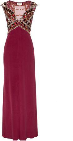 Temperley London Purple Long Viola Dress