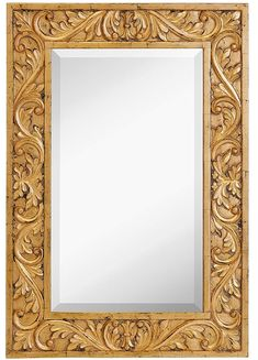 Large Gold Antique Inlay Baroque Styled Framed Mirror Aged Elegant Rectangular Glass Wall Mirror Vanity Bedroom or Bathroom Hangs Horizontal or Vertical 24 x 35 *** Continuously the product at the photo web link. (This is an affiliate link). Large Framed Mirrors, Ornate Mirror, Wall Mounted Mirror, Wall Mirror, Mirror Vanity, Wood Carving Designs, Wood Carving Art, Pooja Room Door Design, Wooden Door Design