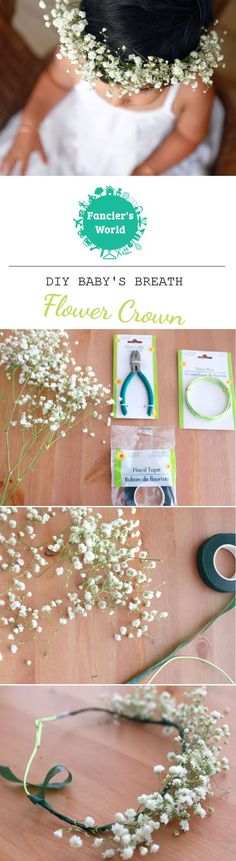 DIY Baby's Breath Flower Crown not only do make for a great photo prop, they are…