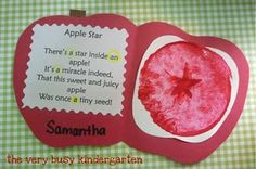 22 Apple-licious Classroom Activities and Freebies Apple activities for the classroom along with freebies that are purely apple-licious! You'll find cute Johnny Appleseed, science, crafts, poems and printables to complete your apple theme lesson plans. Preschool Classroom Themes, Preschool Apple Theme, Fall Preschool, Preschool Projects, Classroom Crafts, Kindergarten Classroom, Kindergarten Apples, Classroom Ideas, Preschool Apples
