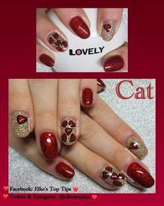 Natural nails. All gel polish, glitter gel, freehand gel art. Nails by Elke's Top Tips