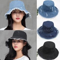 Bleu Femmes Vintage Elegant fleurs cachemire d/'hiver église HAT BUCKET Feutre Cap