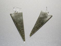 Sterling silver dangle statement resin inlayed by RadiantOriginals, $40.00