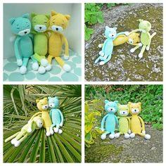 Amineko jaune a rejoint la bande bientôt le rose arrive... enfin après avoir reçu ma laine  En attendant ils profitent bien des derniers rayons... #amineko #crochetaddict #ganchillo #amigurumi #crocheting #instacrochet #amigurumislove #amigurumis #chatcrochet #katiapanama #aminekocat by kezakoflo