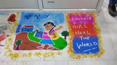 HighQ India holds a Rangoli competition for Diwali 2014 celebrations.