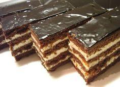 KataKonyha: Csokis mézes krémes Ital Food, Hungary Food, Torte Cake, Romanian Food, Hungarian Recipes, Romanian Recipes, Nutella, Bakery, Dessert Recipes