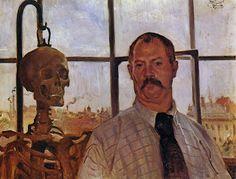 El significado de la danza  Autorretrato con esqueleto, Lovis Corinth