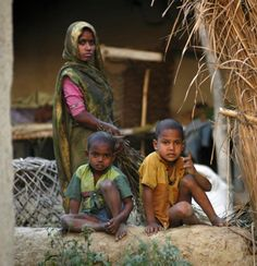 Dalits in a village in India