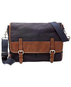 b8a250d834 Fossil Graham Canvas Messenger Bag & Reviews - All Accessories - Men -  Macy's