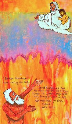 Image result for Photos Abraham and Lazarus in Hell