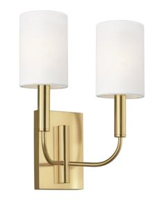 Brianna's graceful, seamless curvature and elongated tubular arms lend fluidity and modern appeal to this classic minimalist silhouette. Available in rich, gilded Burnished Brass and the more contemporary Polished Nickel finish. Brianna wall sconces in Contemporary Wall Sconces, Modern Contemporary, Filter, Dimmable Light Bulbs, Brass Sconce, Light In, Ellen Degeneres, Fabric Shades, Wall Sconce Lighting