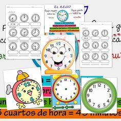 Fitxes per treballar les hores Spanish Classroom, Teaching Spanish, Learning Activities, Activities For Kids, Bilingual Education, Math Numbers, Telling Time, Math For Kids, Preschool Kindergarten
