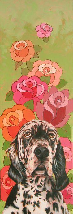 """""""Flowers"""" pet portrait by www.alinakremer.com"""