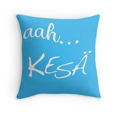 aah Kesä - Blue - Throw Pillow Cover - http://annumar.com/en/designs/aah-kesa-blue-throw-pillow-cover