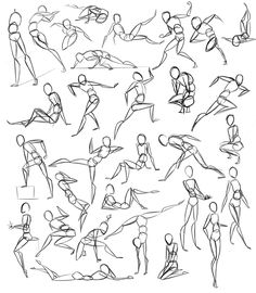 Figure Drawing Poses Pose Practice by Stickaroo on DeviantArt - Figure Sketching, Figure Drawing Reference, Art Reference Poses, Figure Drawing Tutorial, Hand Reference, Drawing Body Poses, Human Drawing, Gesture Drawing Poses, Drawing Tips