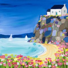 Janet Bell's colourful artwork.