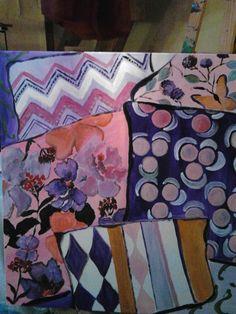 almofadas lilas