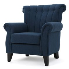 Bring a new dimension and an updated appearance to your living room with Noble House Merritt Dark Blue Fabric Tufted Club Chair. Living Room Chairs, Living Room Furniture, Living Rooms, Tufted Chair, Recliner Chairs, Chair Bed, Side Chair, Upholstered Chairs, Sofa