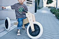 Wishbone Balance Bike in action. Such a well designed run bike.