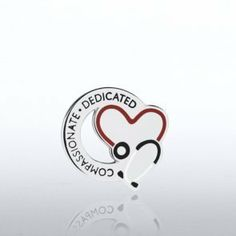 Lapel Pin - Stethoscope: Compassionate Dedicated - Round by Baudville. $5.95. Each lapel pin is beautifully crafted and individually packaged in a clear plastic snap box. All lapel pins have a military clutch backing. Velvet lapel pin presentation boxes are sold separately.