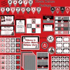 DIY  Deluxe PIRATE Birthday Party  PRINTABLE by CupcakeExpress