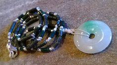 Icy Jade Talisman Zen Inspired knotted Jadeite Jade by IndigoLayne
