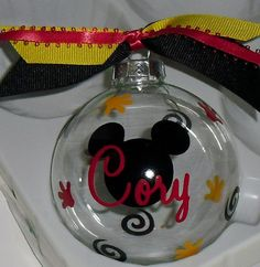 Personalized Mickey Mouse Christmas Ornament