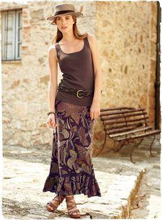 Pima Cotton Palampore Skirt $198 Peruvian Connection