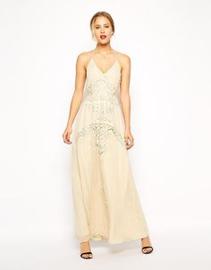 ASOS | ASOS Lace Insert Maxi Dress at ASOS