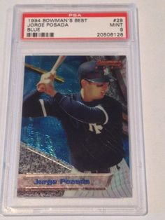1994 Jorge Posada Bowman s Best Blue  29 PSA Graded 9 Mint Rookie Card .   39.99 1e2faa184