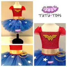 Girls Wonder Woman inspired Tutu Dress