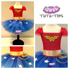 Girls Wonder Woman inspired Tutu Dress