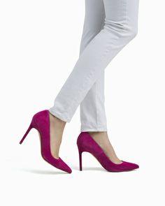 Bess Pink Suede Heel