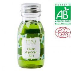 Huile d'avocat : Particulièrement adaptée aux peaux sèches et aux cheveux, elle redonne élasticité et confort à la peau. Elle agit également contre le vieillissement cutané. C'est un embellisseur capillaire qui apporte brillance et vigueur aux cheveux. Huile de beauté ultra nourrissante à l'huile d'Avocat & géranium: 50 ml d'huile d'avocat + 50 ml d'huile d'olive + 60 gouttes d'huile essentielle de géranium + 9 gouttes de vitamine E.