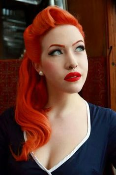 copper pin up hair