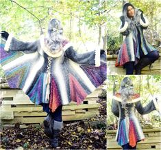 Crochet Coat, Crochet Cardigan, Crochet Sweaters, Crochet Clothes, Renaissance, Lion Brand, Fit And Flair, Pixie, Shawl In A Ball
