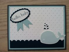 Baby shower card for boy using Stampin Up!