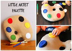 Little Artist Palette Softie PDF Sewing Pattern! This stuffed toy is perfect for a baby softie or has an optional toddler puzzle add-on to keep older hands busy. The pattern has real photograph instructions & digital pattern pieces; the palettes are perfect for gift giving!