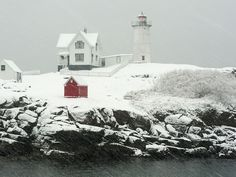 "Location: York, Maine  Although Cape Neddick is its official name, Nubble Lighthouse came to be in 1879 after President Rutherford B. Hayes appropriated money to build a lighthouse on a ""nub"" of land for safe transport of commerce by sea."