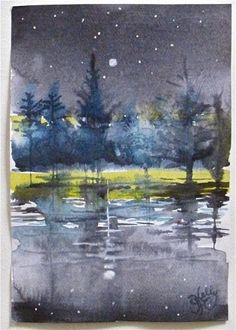 Image result for miniature landscape watercolor painting
