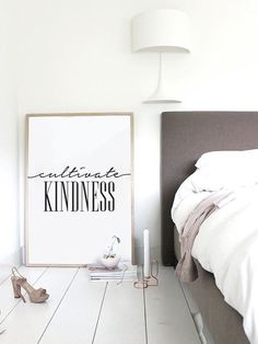 Typography Print Cultivate Kindness Wall Decor by LovelyPosters